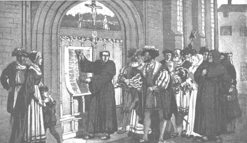 ... The 95 Theses that Martin Luther nailed on the door at Wittenberg & Luther\u0027s 95 Theses